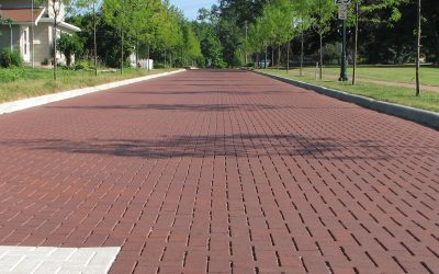 Permeable clay pavers cost less than asphalt