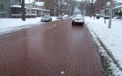 Permeable pavers improve snow and ice removal on city streets