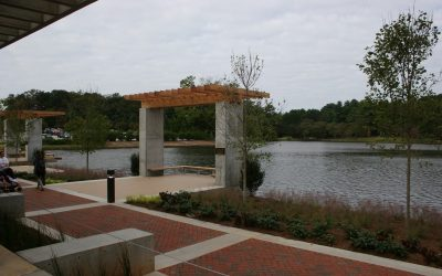 Furman's new student center uses water permeable pavers