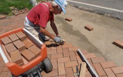 Octogenarian couple installs 25,000-paver driveway
