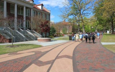 ECU Founders Walk adds beauty and functionality