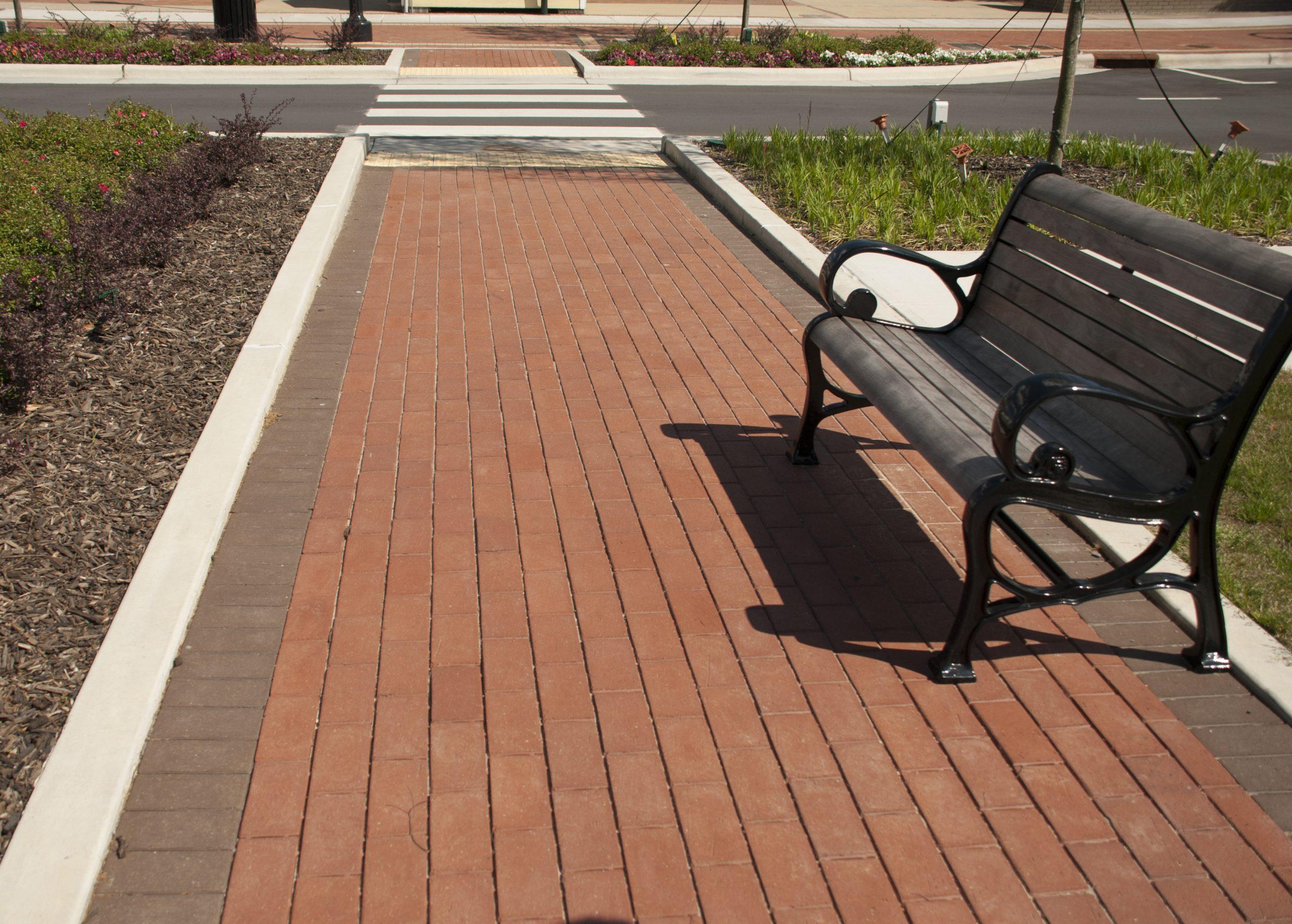 Sidewalk w bench