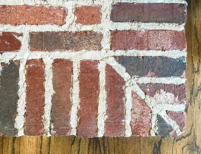 Makeover your fireplace with thin brick