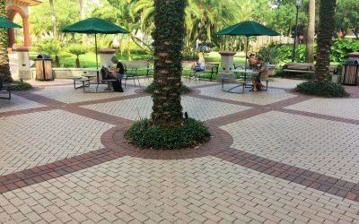 Permeable pavers solve drainage issues and enhance the beauty of the Flagler College campus