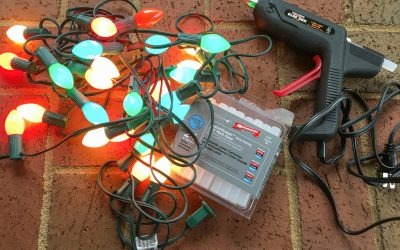 How to hang Christmas lights on brick with a glue gun