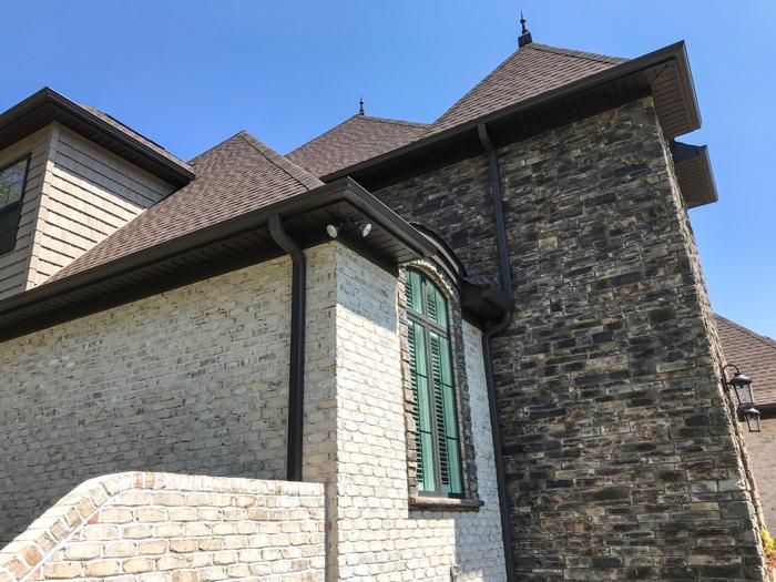 Chesapeake Pearl brick and stone creates a castle