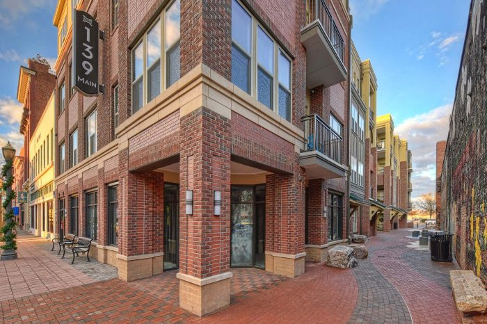aesthetic paving complements brick condos