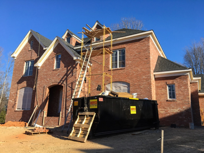 reclaimed brick home almost complete