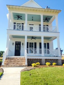 Charleston style home inland