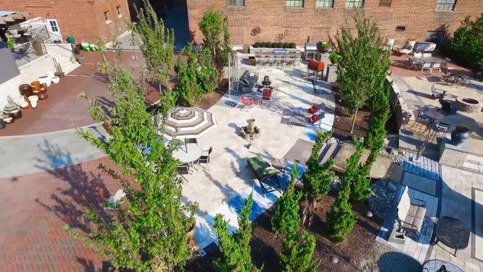 PennStone residential hardscape courtyard