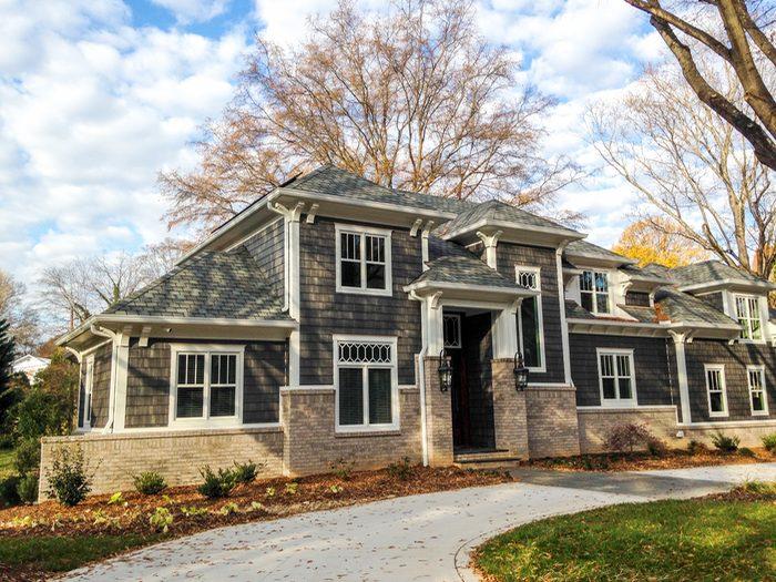 pine hall brick in modern craftsman home