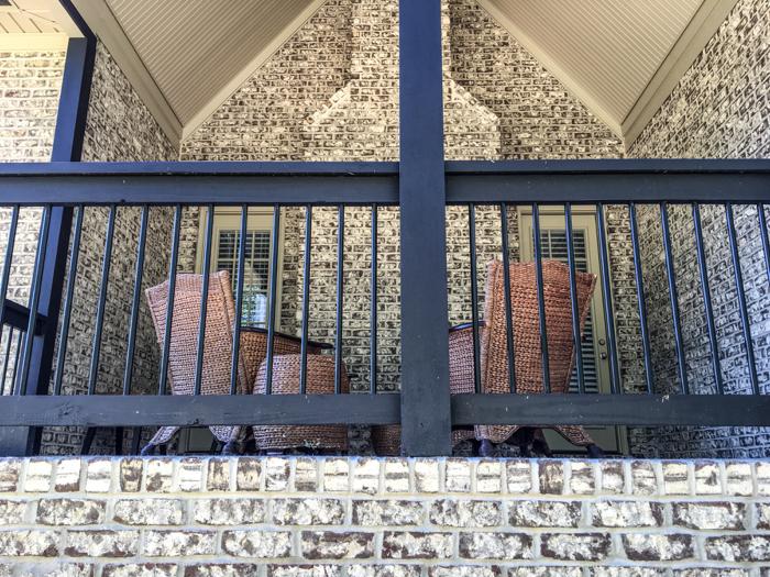 Tufts House brick surrounds patio