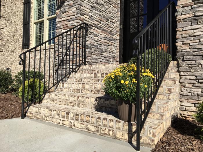 Tufts House brick with ledge stone