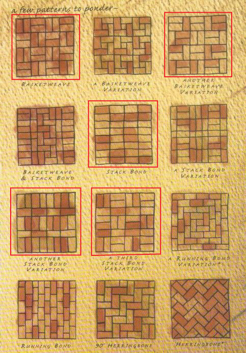 five no-cut paver patterns