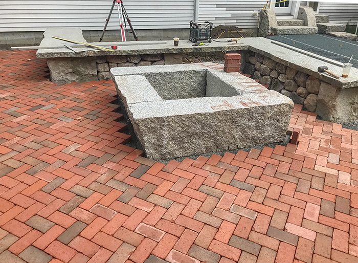 pavers started on forever patio