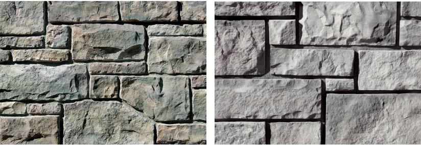 Examples of Ashlar - Brick and Stone Combination