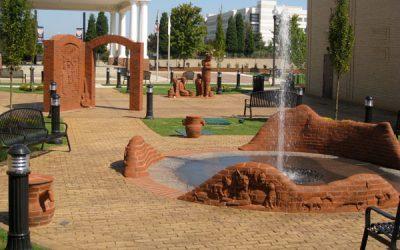 Reidsville brick sculptor, Brad Spencer, brings a slice of history to Gastonia