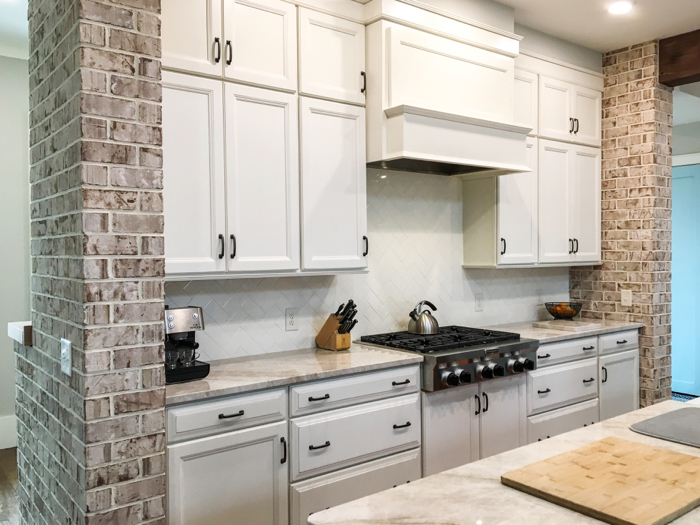 Thin brick is perfect for kitchen remodeling
