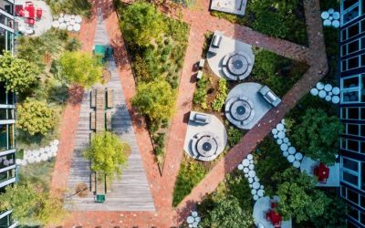 Urby Harrison hardscape showcases pavers, earns BIA award