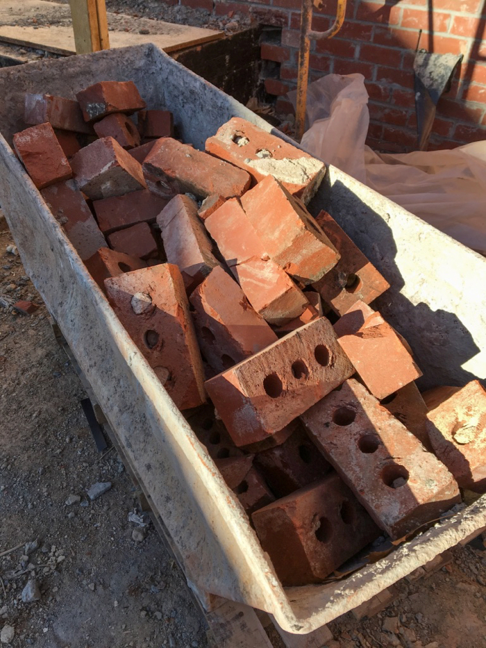 reclaimed brick for project