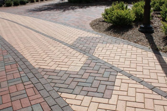Aesthetic paving is also functional.