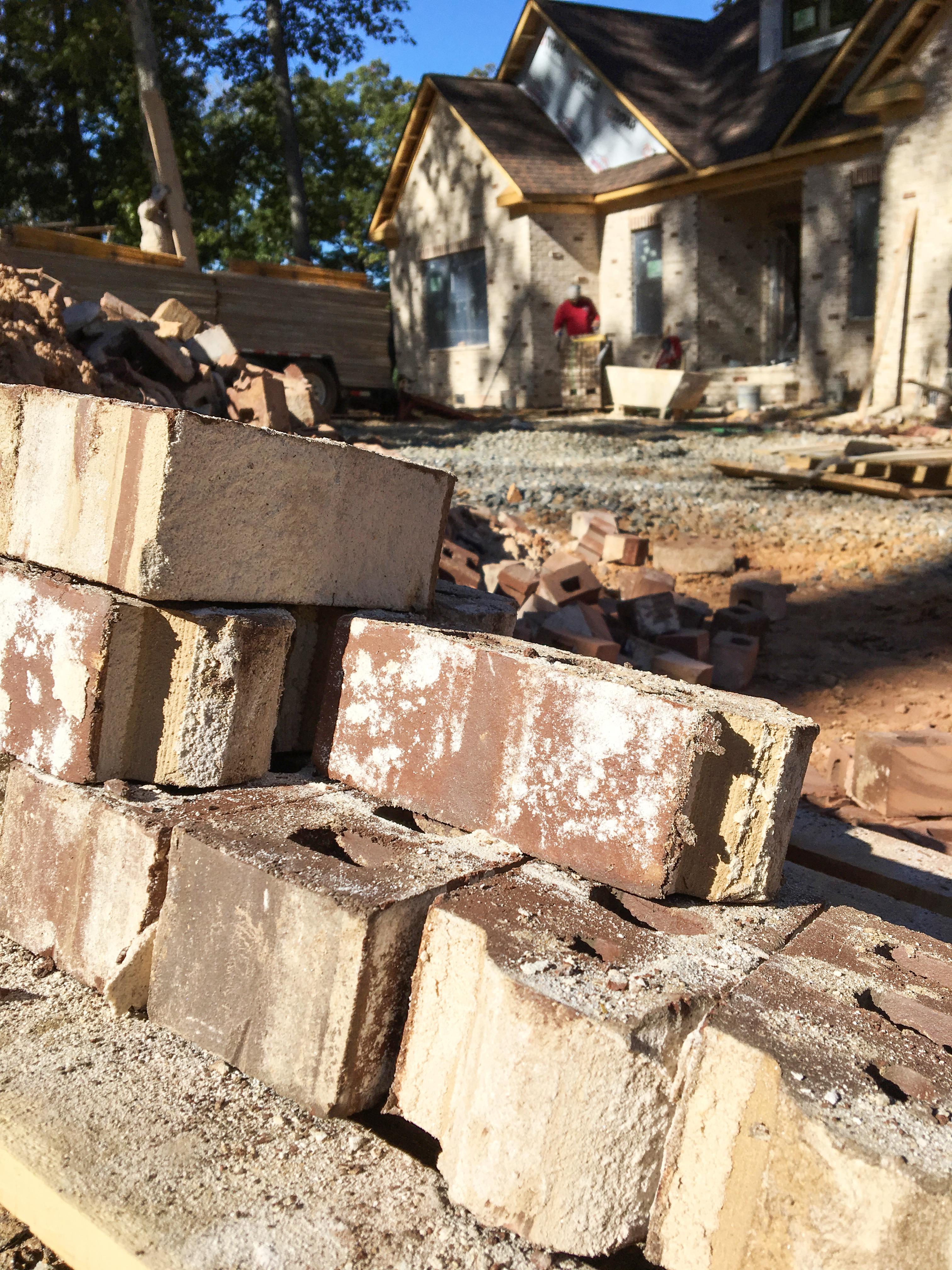 autumn day on brick house job