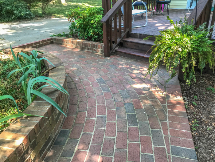 Clay Pavers Become Part Of The Landscaping