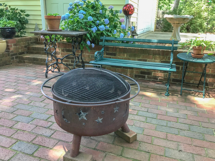 Fire Pit On Brick Patio