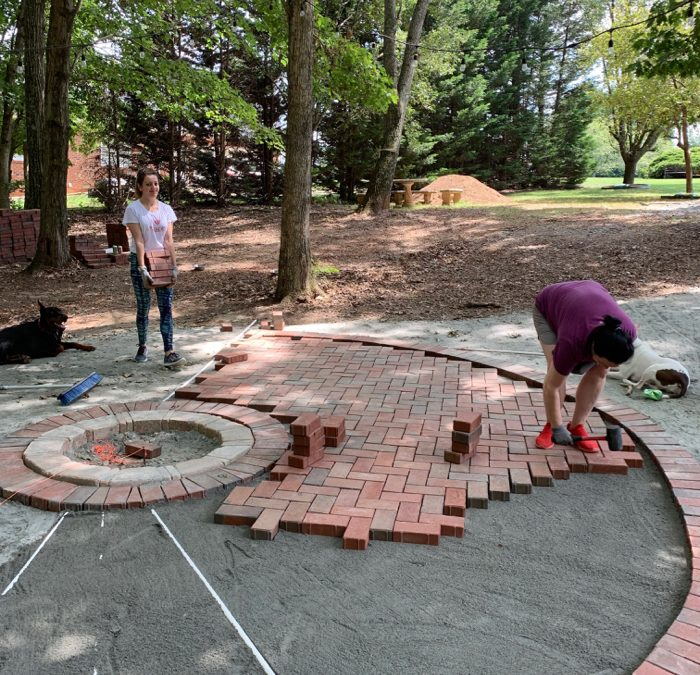 family paver landscaping project