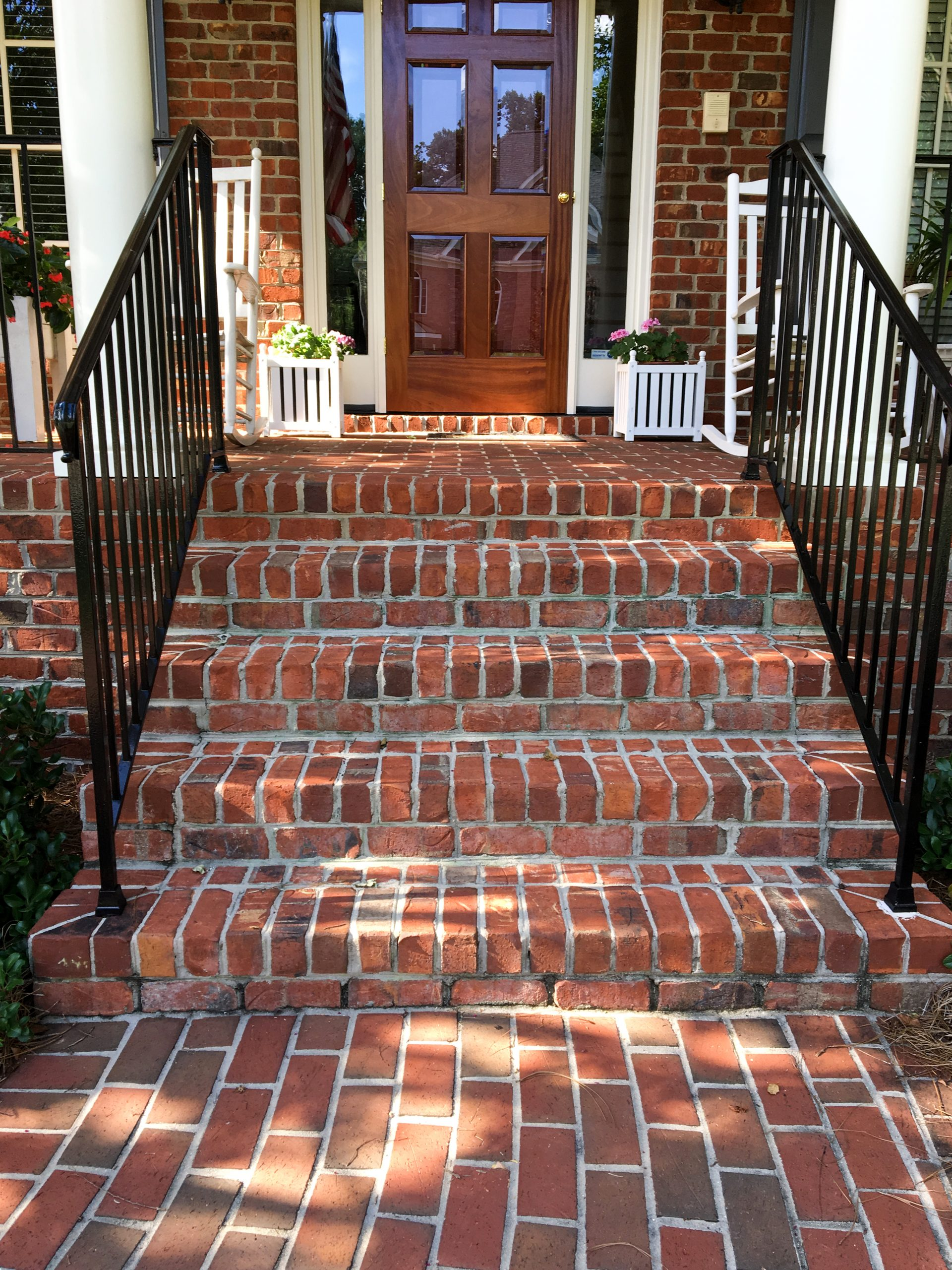 traditional brick steps