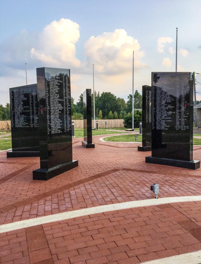 Veterans Memorial Using Pathway Red