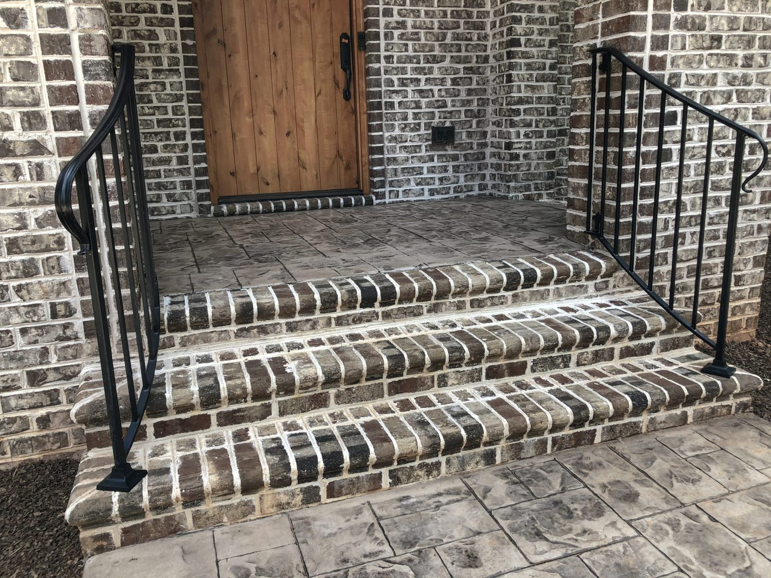Steps in Tufts House step treads by Pine Hall Brick