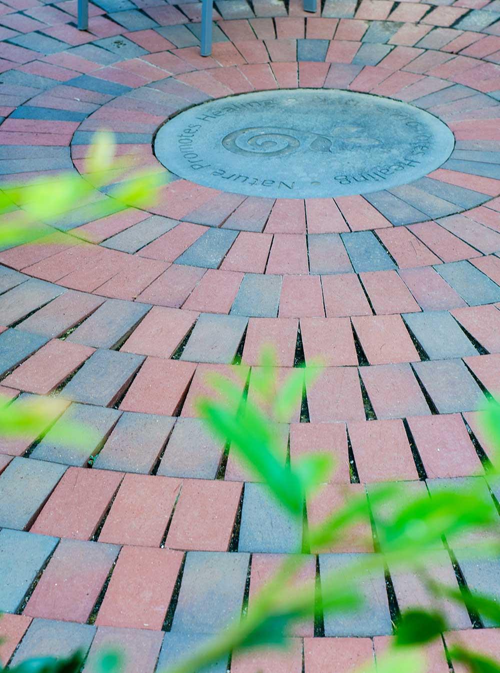 clay-pavers-in-circular-patio-in-healing-garden
