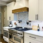 Oysterl Pearl Thin Brick with White Grout