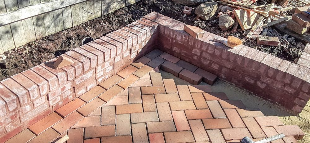 Garden design needs clay pavers
