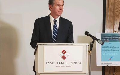 Governor recognizes Pine Hall Brick for its leadership in Covid 19 vaccination programs