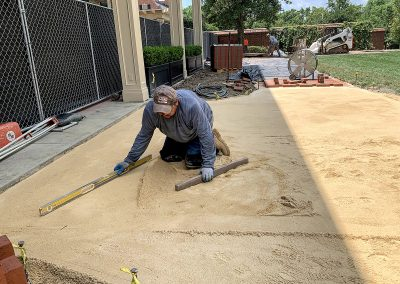 screeding and leveling for clay paver installation