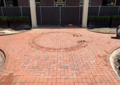 Carolina Inn logo in Pine Hall brick pavers